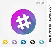 colored icon of grid symbol... | Shutterstock .eps vector #529831027