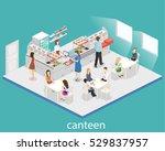 isometric flat 3d concept... | Shutterstock .eps vector #529837957