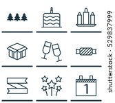 set of 9 celebration icons. can ...