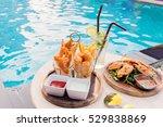 mix snack break with margarita... | Shutterstock . vector #529838869