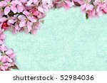 Floral craquelure background with room for your text. - stock photo