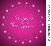 shiny new year lettering.... | Shutterstock .eps vector #529840729