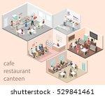 isometric flat 3d concept... | Shutterstock .eps vector #529841461