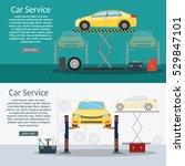 center mechanical car service...   Shutterstock .eps vector #529847101