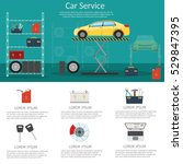 center mechanical car service... | Shutterstock .eps vector #529847395