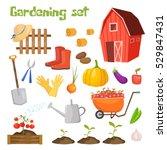 garden colorful designs... | Shutterstock .eps vector #529847431