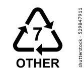plastic recycling symbol other... | Shutterstock .eps vector #529847911
