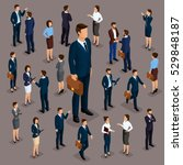 people isometric 3d  the big... | Shutterstock .eps vector #529848187