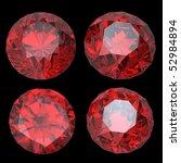 round garnet isolated on black... | Shutterstock . vector #52984894