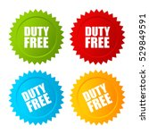 duty free vector label set... | Shutterstock .eps vector #529849591