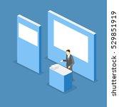isometric flat 3d concept... | Shutterstock .eps vector #529851919