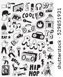 rap doodles | Shutterstock .eps vector #529851931