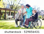 rehabilitation clinic with... | Shutterstock . vector #529856431