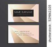 elegant business card | Shutterstock .eps vector #529861105