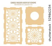 diy laser cutting vector scheme ... | Shutterstock .eps vector #529862254