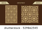 diy laser cutting set. woodcut... | Shutterstock .eps vector #529862545