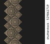 golden frame in oriental style. ... | Shutterstock .eps vector #529862719
