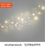 gold glittering star dust trail ... | Shutterstock .eps vector #529866994