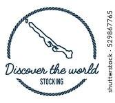 stocking island map outline.... | Shutterstock .eps vector #529867765