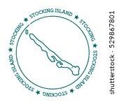 stocking island vector map.... | Shutterstock .eps vector #529867801