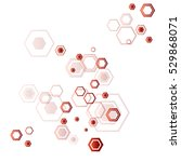 abstract background of hexagons ... | Shutterstock .eps vector #529868071