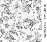 seamless pattern with... | Shutterstock .eps vector #529868545