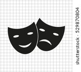 theater masks    black vector... | Shutterstock .eps vector #529870804