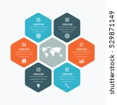 Vector illustration infographics six hexagons. Stock vector | Shutterstock vector #529871149