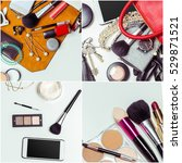 collage of cosmetic | Shutterstock . vector #529871521