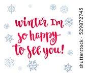 modern calligraphy style winter ... | Shutterstock .eps vector #529872745