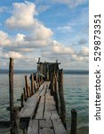 An Old Pier At The San Blas...