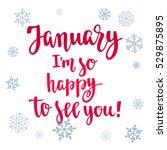 modern calligraphy style winter ... | Shutterstock .eps vector #529875895