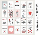valentines day set cards....   Shutterstock .eps vector #529878535
