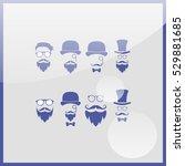 retro gentleman icon set. | Shutterstock .eps vector #529881685