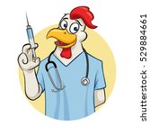rooser doctor anesthetist with... | Shutterstock .eps vector #529884661