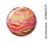 planet jupiter icon. element of ...   Shutterstock .eps vector #529885579