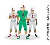 american football. football... | Shutterstock .eps vector #529886641