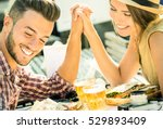 couple in love taking selfie at ... | Shutterstock . vector #529893409