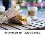 chicken submarine sandwich from ...   Shutterstock . vector #529895461