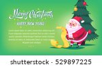 cute cartoon santa claus... | Shutterstock .eps vector #529897225
