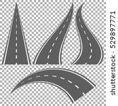 set of bending roads and... | Shutterstock .eps vector #529897771