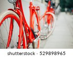 Vintage Red Bicycle In...