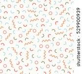 retro memphis geometric line... | Shutterstock .eps vector #529900939