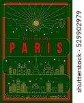 linear happy new year paris... | Shutterstock .eps vector #529902979