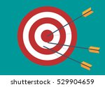 target with 3 arrows.  idea  ... | Shutterstock .eps vector #529904659