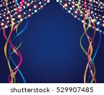 festive scene with ribbons and... | Shutterstock .eps vector #529907485
