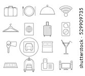 set os simple modern hotel... | Shutterstock .eps vector #529909735