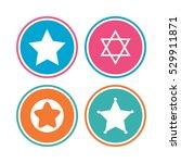 star of david icons. sheriff...   Shutterstock .eps vector #529911871