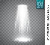 ufo light beam isolated on... | Shutterstock .eps vector #529912717