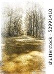 walkway in the park. photo in... | Shutterstock . vector #52991410